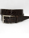 Brown Glazed South American Caiman Belt 50761 - Torino Leather Exotic Belts | Sam's Tailoring Fine Men's Clothing