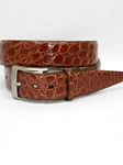 Cognac Glazed South American Caiman Belt 50767 - Torino Leather Exotic Belts | Sam's Tailoring Fine Men's Clothing