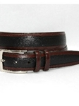 Torino Leather Bulgaro Calfskin Inlay With Kipskin Trim Belt - Black 55290 - Dress Casual Belts | Sam's Tailoring Fine Men's Clothing