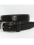 Torino Leather Burnished Tumbled Leather Belt - Black 61550 - Dress Casual Belts | Sam's Tailoring Fine Men's Clothing