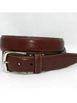 Torino Leather Burnished Tumbled Leather Belt - Brown 61551 - Dress Casual Belts | Sam's Tailoring Fine Men's Clothing