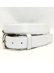 Torino Leather Burnished Tumbled Leather Belt - White 61554 - Dress Casual Belts | Sam's Tailoring Fine Men's Clothing