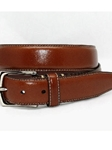 Torino Leather Burnished Tumbled Leather Belt - Saddle Tan 61558 - Dress Casual Belts | Sam's Tailoring Fine Men's Clothing
