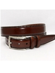 Torino Leather Hand Stained Italian Kipskin Belt - Brown 56111 - Dress Casual Belts | Sam's Tailoring Fine Men's Clothing