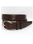 Torino Leather Italian Bulgaro Calfskin Belt - Brown 55771 - Dress Casual Belts | Sam's Tailoring Fine Men's Clothing