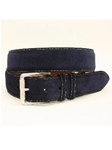 Torino Leather European Sueded Calfskin Belt - Navy 54012 - Cool Casual Belts | SamsTailoring Fine Men's Clothing