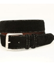 Torino Leather European Sueded Calfskin Belt - Black 54010 - Belts Cool Casual | Sam's Tailoring Fine Men's Clothing