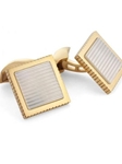 Tateossian London 18 Karat Square Sartorial Chequer - Mop CL0221 - 18k Carat Gold Cufflinks | Sam's Tailoring Fine Men's Clothing