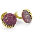 Tateossian London 18 Karat Precious Cufflinks - Natural Ruby & Yellow Gold CUF0461 - 18k Carat Gold Cufflinks | Sam's Tailoring Fine Men's Clothing