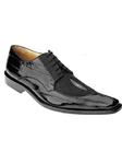 Belvedere Black Milan Genuine Eel and Stingray Leather Shoes 2N4 - Fall 2015 Collection Shoes | Sam's Tailoring Fine Men's Clothing