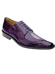 Belvedere Purple Milan Genuine Eel and Stingray Leather Shoes 2N4 - Fall 2015 Collection Shoes | Sam's Tailoring Fine Men's Clothing