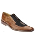 Belvedere Camel Brown Milan Genuine Eel and Stingray Leather Shoes 2N4 - Fall 2015 Collection Shoes | Sam's Tailoring Fine Men's Clothing