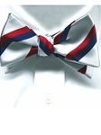 Robert Talbott White Handsewn Silk Patriotic Bow Tie 315482C-03 - Bow Ties & Sets | Sam's Tailoring Fine Men's Clothing
