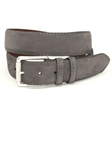 Torino Leather European Sueded Calfskin Belt - Slate 54018 - Cool Casual Belts | Sam's Tailoring Fine Men's Clothing