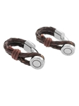 Tateossian London RT Scoubidou Pivot Button Wraparound Cufflinks - Brown CL1471 - Cufflinks | Sam's Tailoring Fine Men's Clothing
