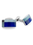 Tateossian London RT Tablet Tartan - Blue CL2703 - Cufflinks | Sam's Tailoring Fine Men's Clothing