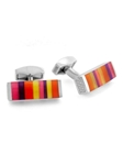 Tateossian London RT Tablet Striped - Pink and Red CL2692 - Cufflinks | Sam's Tailoring Fine Men's Clothing