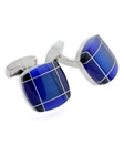 Tateossian London RT Tartan Fusion Cufflinks - Blue & Navy Blue BTS9142 - Cufflinks | Sam's Tailoring Fine Men's Clothing