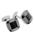 Tateossian London RT Tartan Fusion Cufflinks - Black CUF1188 - Cufflinks | Sam's Tailoring Fine Men's Clothing