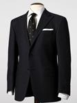 Sterling Collection Navy Flannel Birdseye Suit M1325324014 - Hickey Freeman Sterling Slim Collection  |  SamsTailoring  |  Sam's Fine Men's Clothing