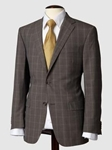 Hart Schaffner Marx Light Brown Windowpane Suit 131630216064 - Suits | Sam's Tailoring Fine Men's Clothing