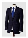 Hart Schaffner Marx Navy Plaid Suit, Suits 165455242064 - Suits | Sam's Tailoring Fine Men's Clothing