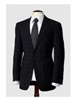 Hart Schaffner Marx Dark Navy Suit with Blue Windowpane 131766206062 - Suits | Sam's Tailoring Fine Men's Clothing