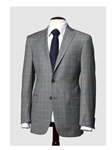 Hart Schaffner Marx Grey Windowpane Suit 170434218183 - Suits | Sam's Tailoring Fine Men's Clothing