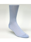 Light Blue Rib Solid Ankle High Sock TA1100CB-01 - Robert Talbott Socks Footwear | Sam's Tailoring Fine Men's Clothing