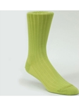 Green Rib Solid Ankle High Sock TA1100CG-01 - Robert Talbott Socks Footwear | Sam's Tailoring Fine Men's Clothing