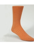 Orange Rib Solid Ankle High Sock TA1100CO-01 - Robert Talbott Socks Footwear | Sam's Tailoring Fine Men's Clothing