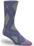 Blue Mini Argyle Ankle High Sock TA1103CD-01 - Robert Talbott Socks Footwear | Sam's Tailoring Fine Men's Clothing