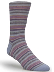 Grey Multi Striped Ankle High Sock TA1104CL-01 - Robert Talbott Socks Footwear | Sam's Tailoring Fine Men's Clothing