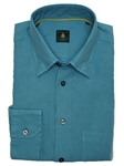 Robert Talbott Trim Turquoise Trim Fit Linen Tencel Sport Shirt TUM13009-01 - View All Shirts | Sam's Tailoring Fine Men's Clothing