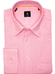 Robert Talbott Pink Trim Fit Linen Tencel Sport Shirt TUM13005-01 - View All Shirts | Sam's Tailoring Fine Men's Clothing