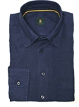 Robert Talbott Navy Trim Fit Linen Tencel Sport Shirt TUM13011-01 - View All Shirts | Sam's Tailoring Fine Men's Clothing