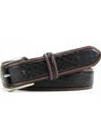 Bill Lavin Black Italian Exotic Eel Skin Embossed Belt 3-17131 - Soft Collection Belts | Sam's Tailoring Fine Men's Clothing
