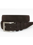 Torino Leather Italian Sueded Calfskin Belt - Brown 54451 - Resort Casual Belts | Sam's Tailoring Fine Men's Clothing