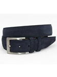 Torino Leather Italian Sueded Calfskin Belt - Navy 54452 - Resort Casual Belts | Sam's Tailoring Fine Men's Clothing