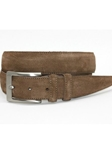 Torino Leather Italian Sueded Calfskin Belt - Whiskey 54457 - Resort Casual Belts | Sam's Tailoring Fine Men's Clothing