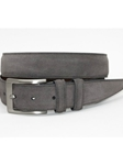 Torino Leather Italian Sueded Calfskin Belt - Grey 54459 - Resort Casual Belts | Sam's Tailoring Fine Men's Clothing