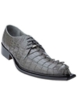 Belvedere Gray ZENO Genuine Hornback Leather Shoes 3400 - Fall 2015 Collection Shoes | Sam's Tailoring Fine Men's Clothing