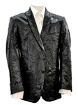 Sam's Tailoring Fine Men's Clothing: Black 2-Button Pleated Silk Jacket - SKU ITALOFERRETTI-JACKET-GIACCA3 - Jackets | Italo Ferretti