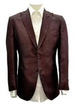 Sam's Tailoring Fine Men's Clothing: Red Brown 2-Button Silk Jacket - SKU ITALOFERRETTI-JACKET-GIACCA4 - Jackets | Italo Ferretti