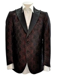 Sam's Tailoring Fine Men's Clothing: Dark Bulgarian Rose 2-Button Silk Jacket - SKU ITALOFERRETTI-JACKET-GIACCA2 - Jackets | Italo Ferretti