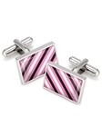 M-Clip Pink, Black, & White Rep Tie Cufflinks SS-CLS-REP3 - Team Colors Cufflinks | Sam's Tailoring Fine Men's Clothing