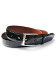 M-Clip Alligator Belts - Black Genuine Alligator Belt BT-BLK-GATR - Exotic Belts and Wallets | Sam's Tailoring Fine Men's Clothing