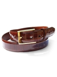 M-Clip Alligator Belts - Cognac Genuine Alligator Belt BT-COG-GATR - Exotic Belts and Wallets | Sam's Tailoring Fine Men's Clothing