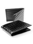 M-Clip Wallets - Black Alligator Wallet WT-BLK-GATR - Exotic Belts and Wallets | Sam's Tailoring Fine Men's Clothing