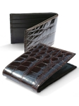 M-Clip Wallets - Dark Brown Alligator Wallet WT-BRN-GATR - Exotic Belts and Wallets | Sam's Tailoring Fine Men's Clothing